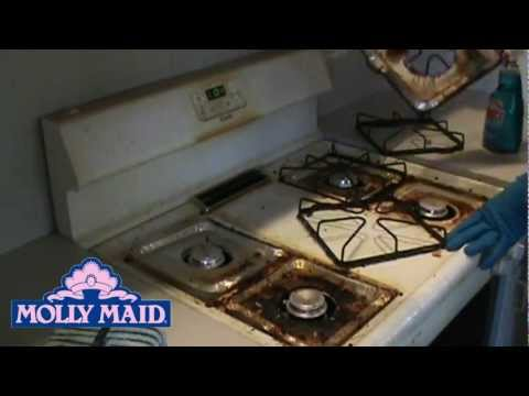 One Minute Nasty Stove Clean