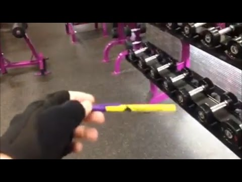 Dropping a pen at Planet Fitness