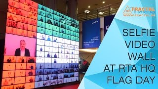 Selfie Video Wall at RTA HQ (Flag Day)