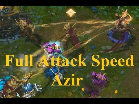 Liên Minh Huyền Thoại: Xem tướng mới Azir max tốc độ đánh