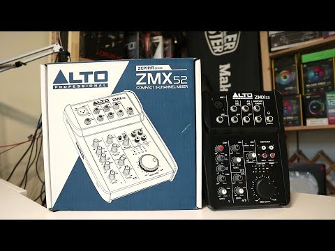Best 5 Channel Audio Mixer For Your Live Streaming - Alto Professional ZMX 52
