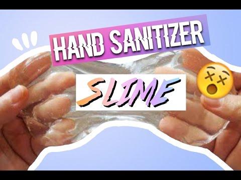 HAND SANITIZER SLIME RECIPIE! (видео)