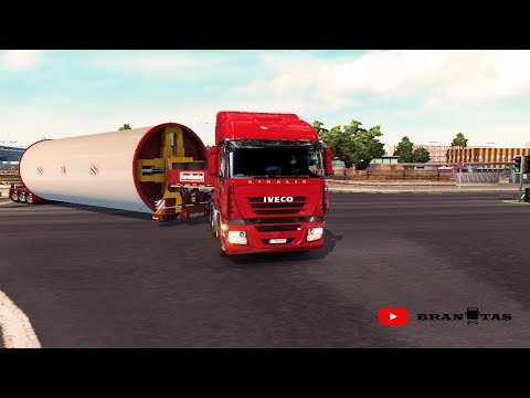 Flatbed Trailer with Steerable Axles 1.28.x