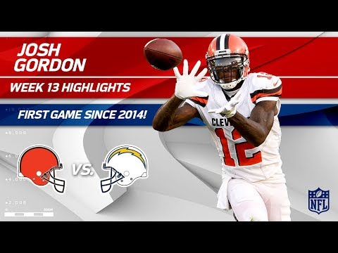 Video: Josh Gordon Highlights, First Game Since 2014! | Browns vs. Chargers | Wk 13 Player Highlights