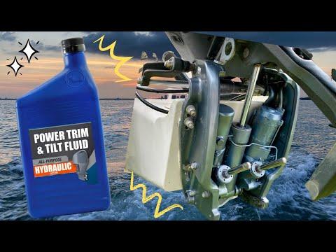 how to bleed johnson power tilt and trim