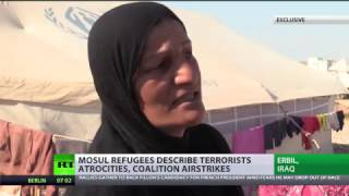 'ISIS cuts heads, breaks legs & provokes airstrikes': Refugees describe Mosul terror