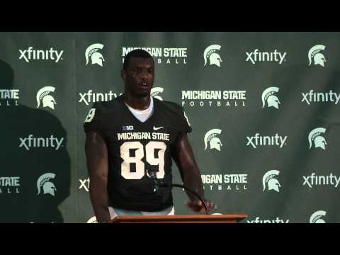 Shilique Calhoun Interview 9/8/2013 video.