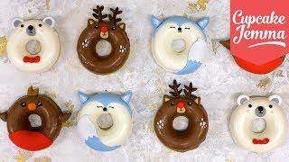 Super Cute Christmas Doughnuts! | Cupcake Jemma by Cupcake Jemma