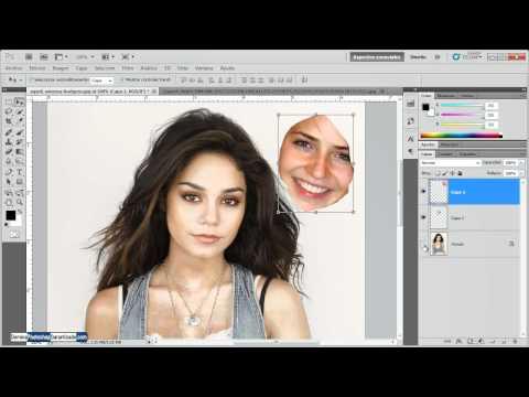 Como cambiar el rostro de una mujer por otro - Tutorial de Photoshop