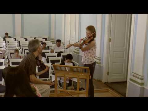 Мастер-класс А.Б. Тростянского (скрипка). Часть III. - DomaVideo.Ru