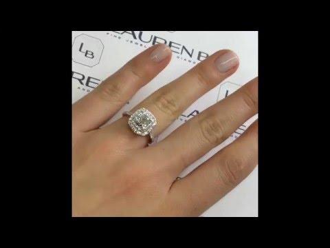 1.21 ct Cushion Cut Diamond Halo Engagement Ring