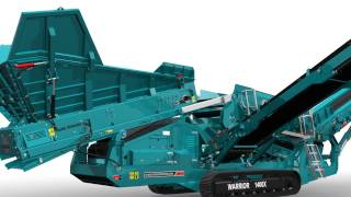 Animation of Powerscreen Warrior 1400X mobile screen