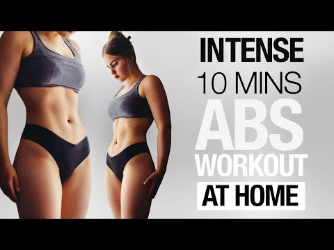 10 min Abs Workout | Fat Burning At Home Routine NO Equipment