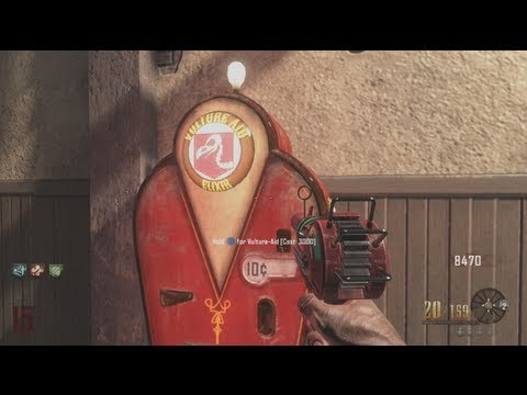 """Vulture Aid Elixir"" New Zombies Perk! (Black Ops 2 Buried Gameplay)"