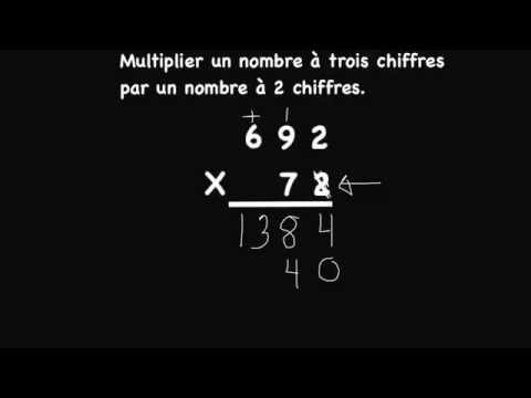 comment poser multiplication 3 chiffres