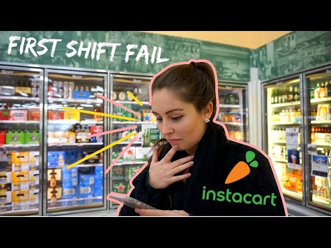 FIRST INSTACART SHOPPER SHIFT + how much I made!