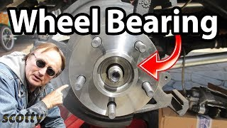 3. How to replace a rear  wheel bearing in your car.