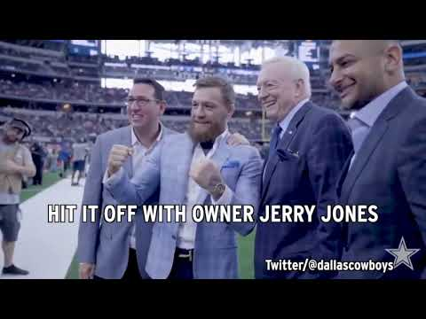 Video: Conor McGregor meets Cowboys before showdown with Jaguars