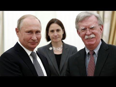 US National Security Adviser John Bolton meets Putin amid INF Treaty tensions