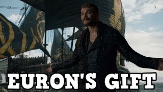 """Euron Greyjoy has been hyped up as one of the biggest characters from Season 7. In Episode 1 """"Dragonstone"""" he went looking for a """"priceless gift"""" for Cersei Lannister. What could this gift be? In this video I talk about what I think Euron is up to and I go into some spoilers.Thanks for watching!Subscribe to for more Game of Thrones! - https://www.youtube.com/user/Fentony118?sub_confirmation=1Twitter - https://twitter.com/Fentony118Intro & Outro Music: www.bensound.com"""