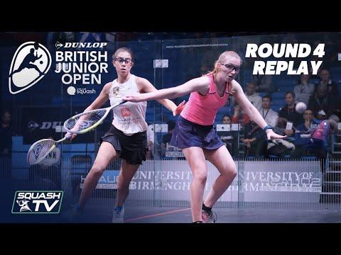 Squash: Dunlop British Junior Open 2020 - Glass Court Rd 4