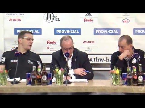 Pressekonferenz: THW Kiel - VfL Gummersbach, 10.02.2016