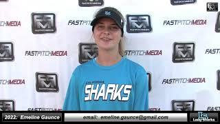 2022 Emeline Gaunce 4.43 GPA, Athletic Catcher & 2nd Base Softball Skills Video SJ Lady Sharks