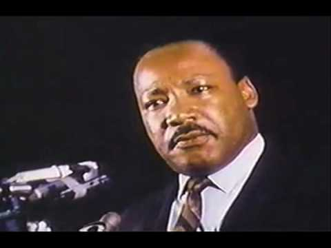 MLK's final speech. He was assassinated the next day. Forward to 1:20 if you're impatient. Very emotional.