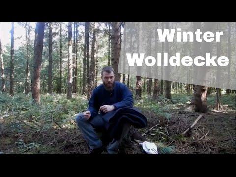 Die beste Winter Wolldecke? | Natural Bushcraft Ausrüstung ohne Plastik