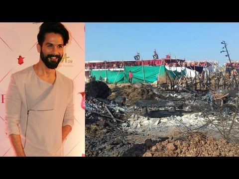 Shahid Kapoor Reaction On Fire On Set Of Padmavati