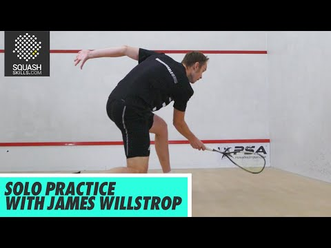 Squash Tips: Ball Skill Development with James Willstrop - Solo Practice