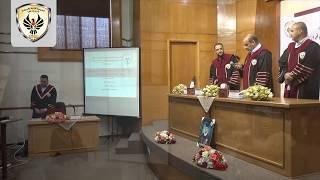 مناقشة رسالة ماجستير الباحث حمزة سالم