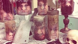 Heads In A Jar Halloween - DIY by Tanya Memme (As Seen On Home & Family) - YouTube