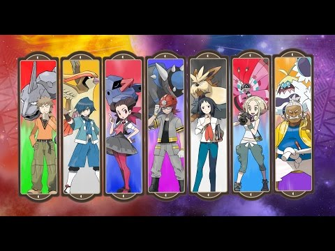 All Pokemon Gym Leader + Island Kahuna, Totem Pokemon Battle Theme OST