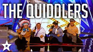Watch the hilarious audition of The Quiddlers as they stun the audience on America's Got Talent. What did you think of the audition? Let us know in the comments below..Got Talent Global brings together the very best in worldwide talent, creating a central hub for fans of the show to keep up to date with the other sensational performances from around the world.Watch more America's Got Talent:https://www.youtube.com/watch?v=12rizzE5L0Q Watch the original, full length clip: The Quiddlershttps://www.youtube.com/watch?v=0mS_6Xgngr0Subscribe to Got Talent Global: http://www.youtube.com/user/gottalentglobalWatch more Got Talent Global videos: https://www.youtube.com/watch?v=w-z5mbZ-yCI&list=PLF-BDTAHX0p5xf2caJw3l9oPmuHI0PJRAFacebook: https://www.facebook.com/gottalentglobalTwitter: https://twitter.com/gottalentglobal