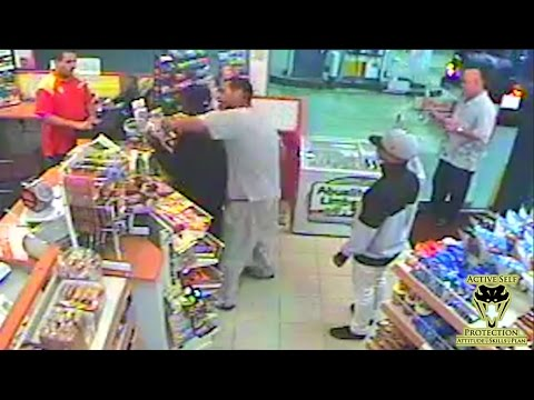 Bystander Gives Armed Robber an Educational Beat Down   Active Self Protection