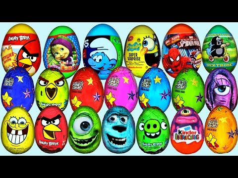 70 Surprise eggs Kinder Surprise Маша и Медведь Disney Pixar Cars 2