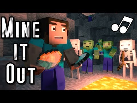 "♪ ""Mine It Out"" – A Minecraft Parody of will.i.am's Scream and Shout (Music Video)"