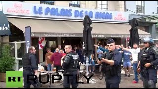 Lille France  city pictures gallery : France: Chairs fly as fans face-off in Lille