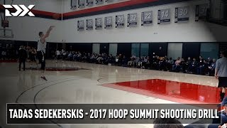2017 Nike Hoop Summit Shooting Drills: Tadas Sedekerskis
