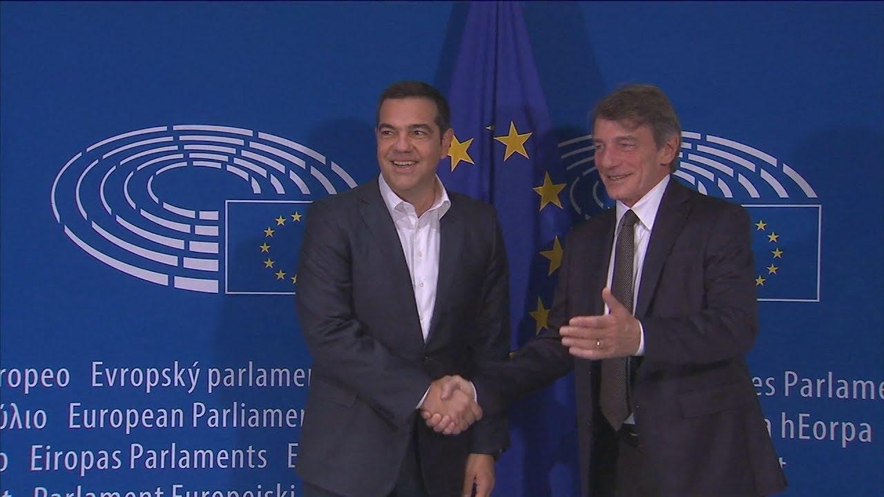 Συνάντηση με τον πρόεδρο του Ευρωπαϊκού Κοινοβουλίου Νταβίντ Σασόλι  είχε ο Α.Τσίπρας