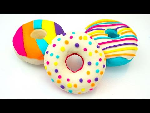 Пластилин плей-до. Делаем плей-до пончики мороженое сюрпризы. Игрушкин ТВ - DomaVideo.Ru