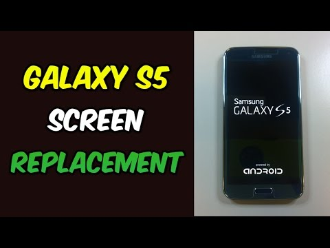 replacement - Replacement parts: http://gocellphonerepair.com/S5 This video shows how to replace your Galaxy S5 display. In this case the AMOLED was damaged so there was n...