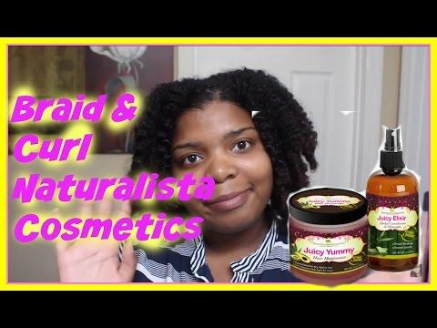 Braid & Curl Using Naturalista Cosmetics Juicy Leave In & Elixir