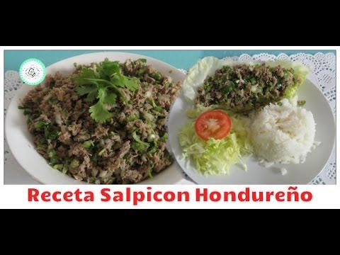 salpicon  Hondureño, las recetas de anita