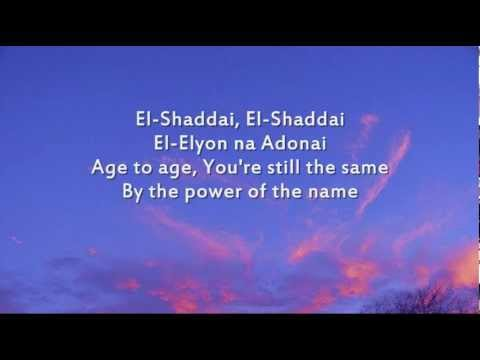 EL SHADAY - From the Jesus calling instrumental CD Available on iTunes [Chorus:] El-Shaddai, El-Shaddai [means