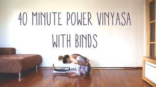 Video 40 Minute Power Vinyasa Flow w Binds MP3, 3GP, MP4, WEBM, AVI, FLV Maret 2018