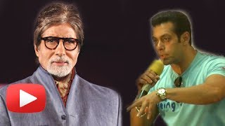 Salman Khan Refuses To Wish Amitabh Bachchan On Camera - Amitabh Bachchan turns 71