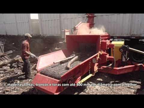 Picador de Madeira PFL 400 x 700 T Picando Pinus Extremamente secos