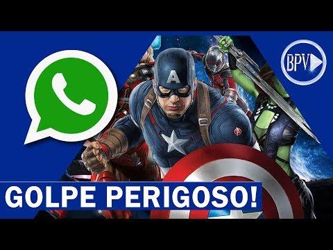 Baixar whatsapp - 50 Mil Pessoas Enganadas! GOLPE Vigadores Guerra Infinita no Whatsapp